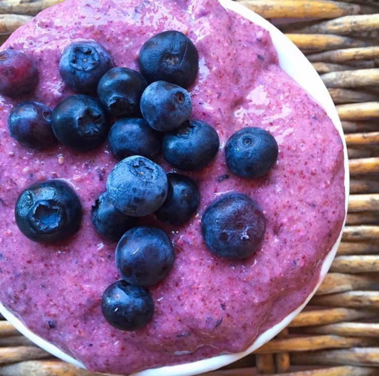 Helado de Berries y Almendras
