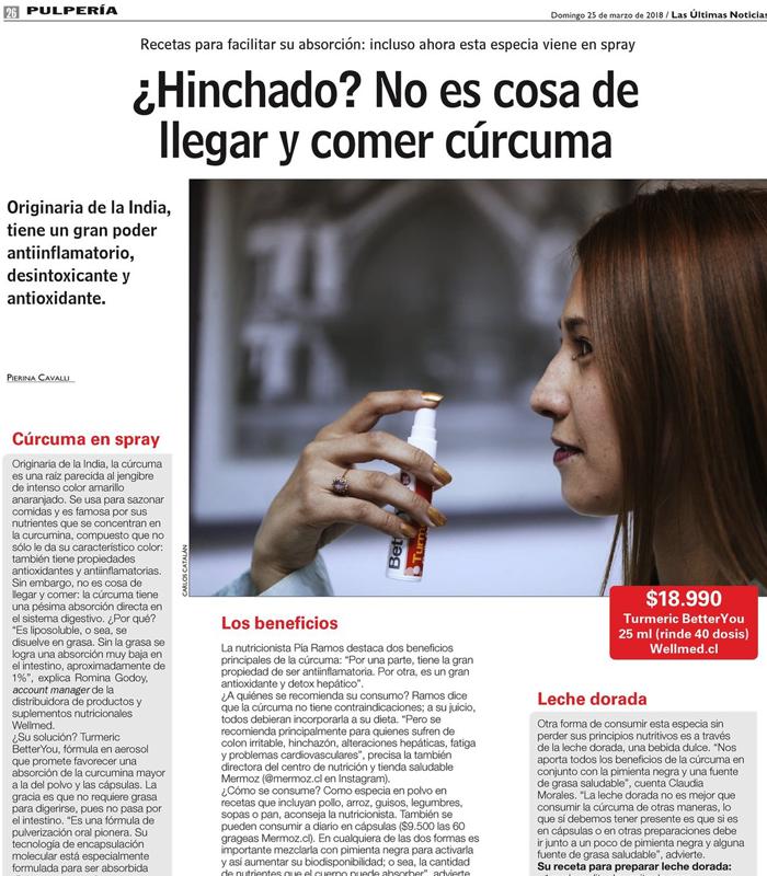 La Nutricionista Pía Ramos comenta las propiedades de la Cúrcuma