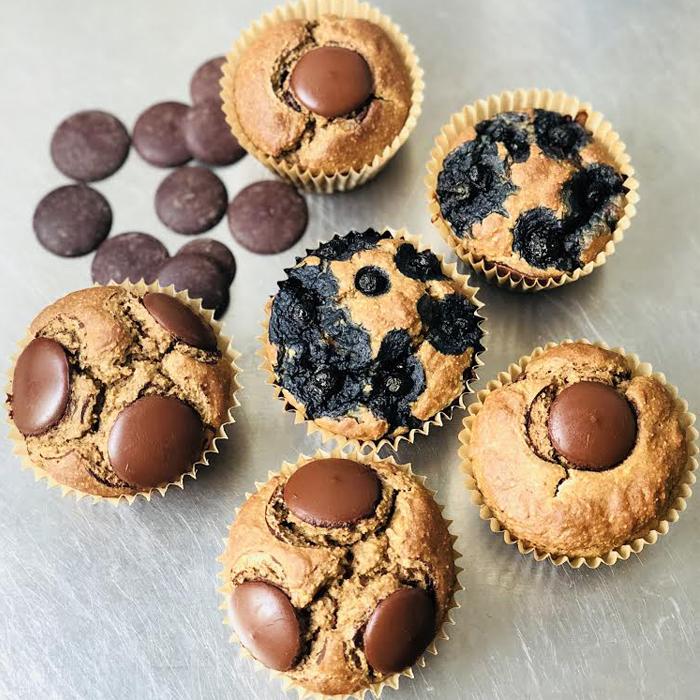 Muffins rápidos con Chips de Chocolate
