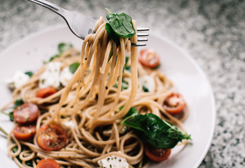 Salsa de Berenjenas con Spaghetti de legumbres